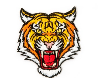 TIGER EMBROIDERED IRONONPATCH