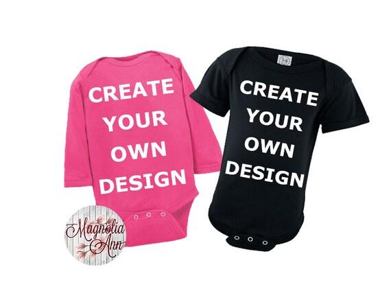 Custom Create Your Own Design Baby Onesie, Baby Shower Gift, Baby Gift, Baby Onesie, Personalized Onesie, Baby Gifts, Custom Baby Outfit