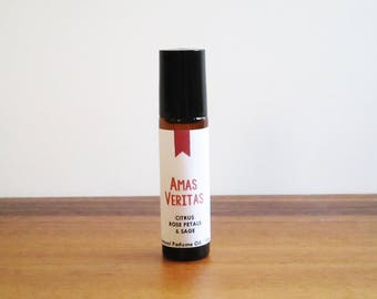 AMAS VERITAS / Citrus Rose Petals & Sage / Book Inspired / Practical Magic Collection / Roll-On Perfume Oil