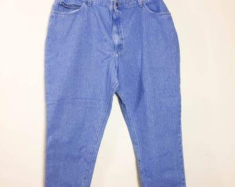90's Vintage RIDERS Women's Jeans Size 26 W PET Light Wash