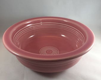 Fiestaware Serving Bowl - Pink Fiestaware Bowl - Vintage Serving Piece - Pink Serving Bowl - Large Pink Bowl - Vintage Fiesta Ware