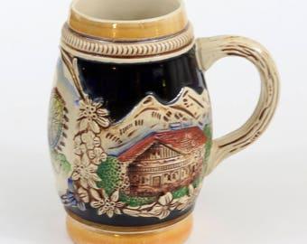 Beer Stein, Wien, Riesenrad, u.Stephansdom, Vienna Austria, Marked 715