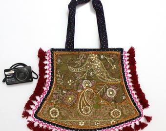 Handmade Ethnic Designer Tribal Banjara Patchwork Embroidered Hippy Fashionable Stylish Trendy Hippie Gypsy Boho Bohemian Fancy Bag G273