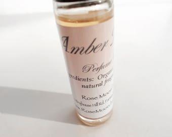 Amber Musk Perfume Oil, Organic Jojoba, Natural Fragrance - Handmade, Roll On Perfume