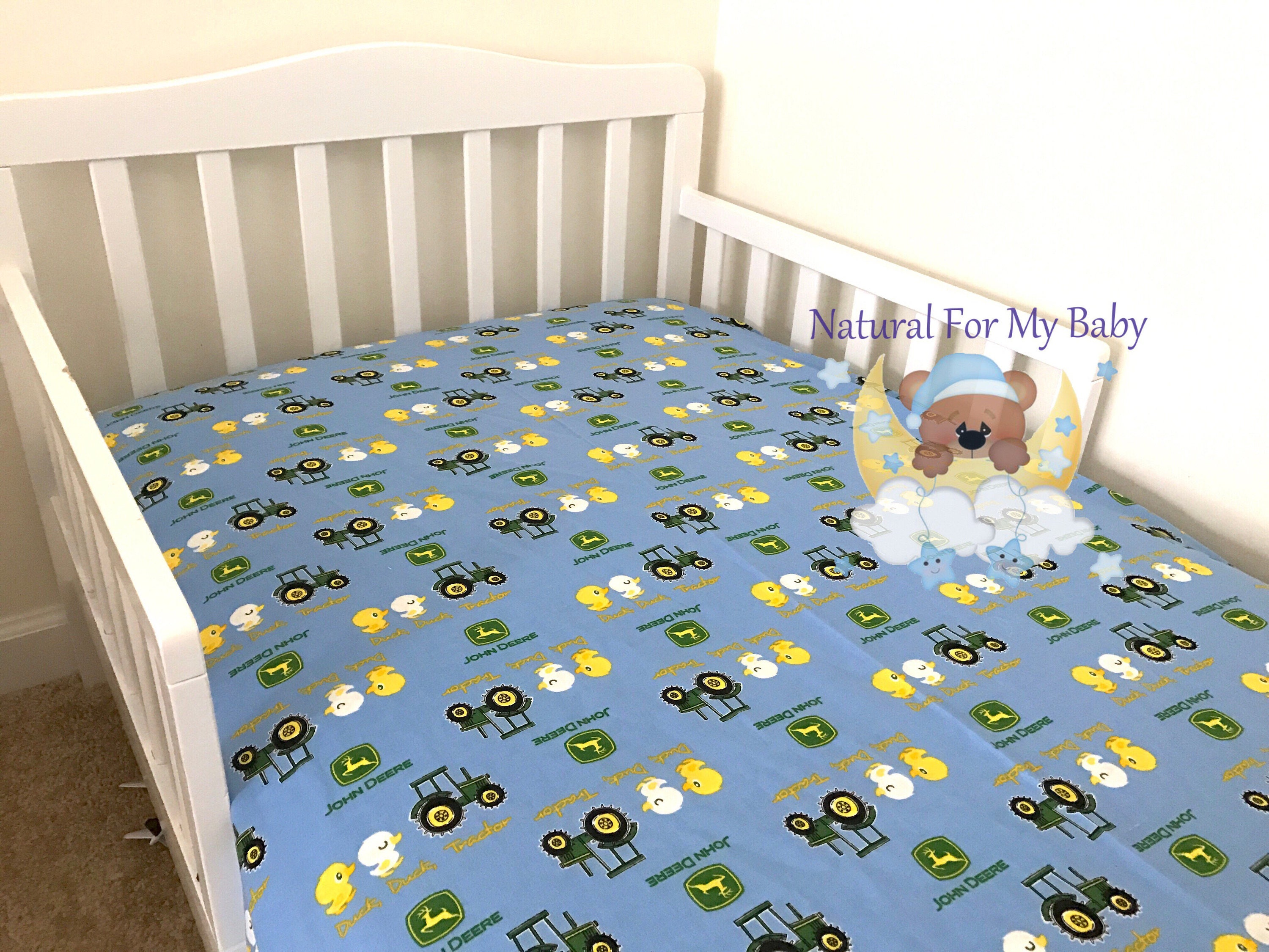 Car Crib Sheet : Cotton tractor cars fitted crib sheet transport toddler