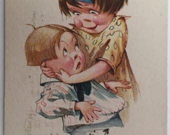 Vintage C. H. Twelvetrees Postcard - No. 2012 - Saucy Caption - Adorable Children - Comic Postcard