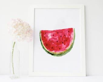 Watermelon birthday, watermelon party, watermelon party decorations, watermelon party decor, watermelon painting, watermelon print, kitchen