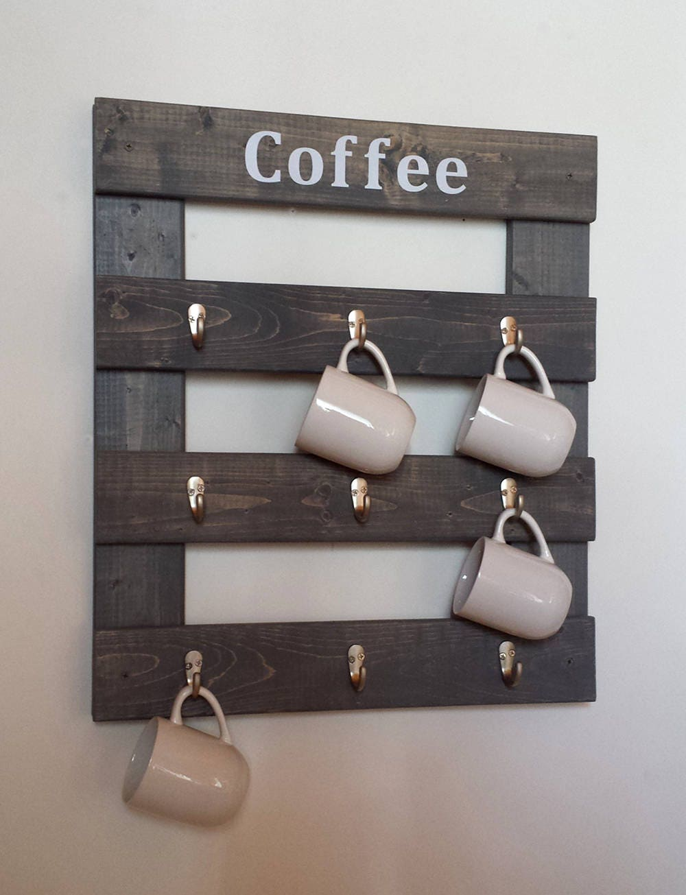 Coffee mug holder personalized coffee mug holder coffee rack for Coffee mug display rack
