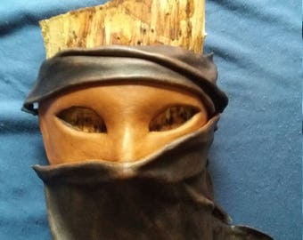 "Leather mask ""tuareg"""