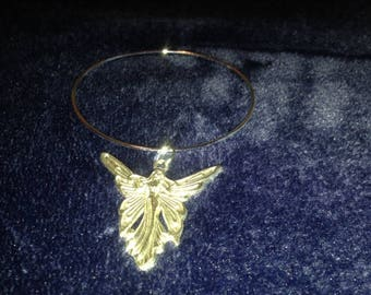 Silver Charm Bracelet with a Silver Angel Charm