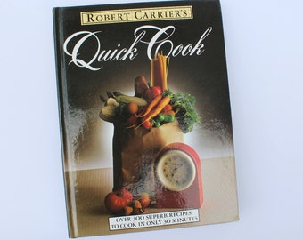 Vintage Retro Cookbook Recipe Collection Quick Dishes Culinary Arts Books 300 Fast Recipes Drinks Recipes English Recipe 1980s Vintage Book