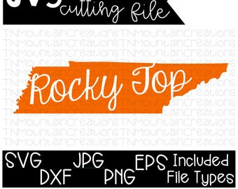 Tennessee Rocky Top SVG File, Tennessee, State Home, Rocky Top, Cutting File, Silhouette, Cricut, PNG, DXF
