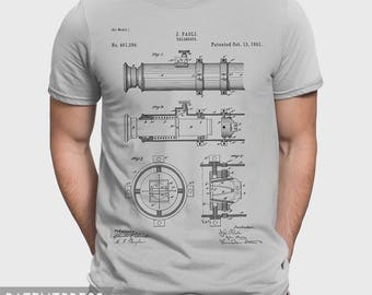 Astronomy Gift T-Shirt For Astronomer, Astronomy Gift For Him, Gift Idea For Nasa  Space Enthusiast, Astronomy Gift For Her, Telescope P404