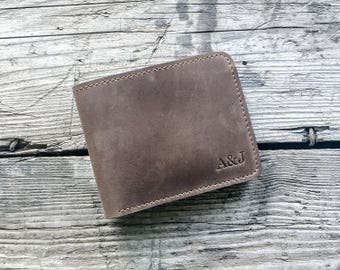 Groomsmen gift Personalized leather wallet Mens leather wallet Personalized wallet Gift for men Monogram wallet.