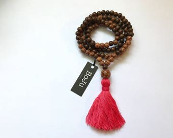 Wooden Mala beads - 108 Mala beads - Mala Necklace - Mala Bracelet - Meditation Beads - Yoga Beads - Tassel Mala - Prayer Beads