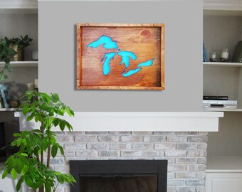 Lower Prices! Michigan - Great Lakes Wall Decor