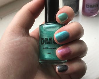 15ml Green Holographic Nail Scented Polish / Lacquer - Indie Nail Polish - DMG Nails