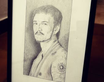 Oberyn Martell - Pencil Portrait (ORIGINALE/ORIGINAL) - no print