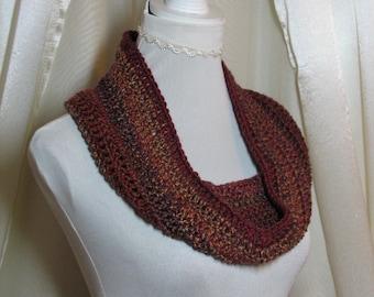 Neckwarmer, cowl snood scarf, crochet cowl, eternity scarf, loop scarf, infinity scarf, circle scarf, womens scarf, autumn scarf