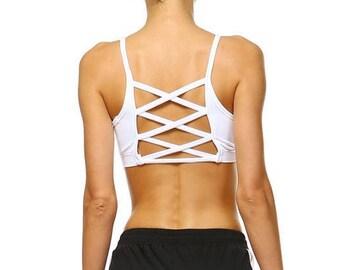 Fit-Fashion Sports Bra - White