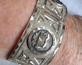 Sterling Silver Handcrafted Bracelet Pre-1979 Mexico