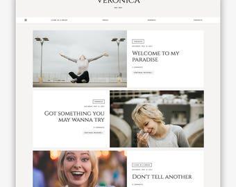 LIMITÉ! Veronica | Réactif minimaliste Premade de Blogger