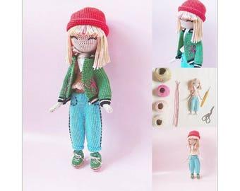 Fanette - Crochet doll pattern