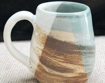 Rustic Handmade Marbled Mug