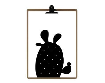 Cactus nursery print - Nursery art prints - baby nursery decor - nursery wall - Children Art - Kids Room