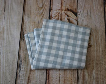 Flannel Baby Blanket-White/Grey Buffalo Print