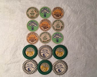 Milk Bottle Caps and Tops - Lot of 15 - 5 Different Types
