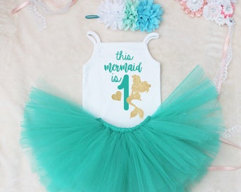 This Mermaid Is One Birthday Tutu Outfit