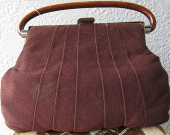 1930's Vintage Handbag Scalloped Edge