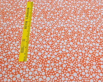 Play Dot-Orange Cotton Fabric from Michael Miller Fabrics