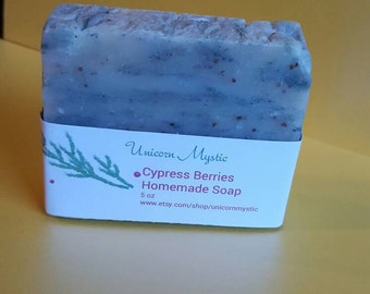 Cypress Berries Cold Processed Homemade Bar Soap