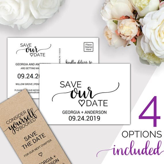 Rustic Save The Date Template Wedding Save The Date Printable - Rustic save the date templates