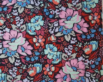 Overachiever in Velvet Floral Fabric Yardage by Anna Marie Horner Floral Retrospective
