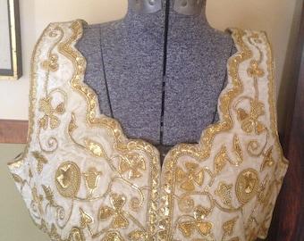 Vintage Matador Torero Traje de Luces Vest Hand Embroidered - Costume -Spanish - beaded bullfighter