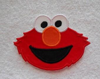Elmo Iron on Applique Patch