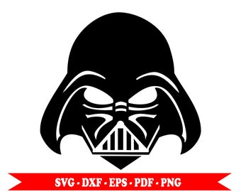 Star Wars Darth Vader, Darth Vader svg, svg, eps, dxf, clip art, png, pdf. For Silhouette, Cricut Cameo Space. For vinyl, embroidery