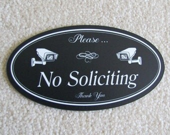 No Soliciting Sign   No Soliciting Security Signs   Security Camera Sign   Please No Soliciting Sign   Solicitation  Sign   No Solicitors