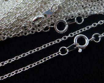 Sterling Silver Plated Necklace Trace Chain 24 Inch 4PC 10PC