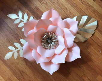 Paper Flower Template Digital, pdf, #5