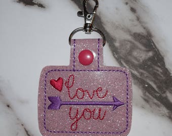 Love You Valentine's Day Keychain (Makes a great gift!!)
