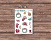 Tis the Season Deco Stickers | ECLP | Happy Planner | Recollections Planner