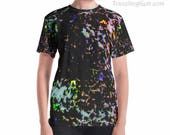 Ironstone Opal Woman's Gem T-shirt_Crystal Clothing_Rainbow Opal Rock_Earth Stone Patterns_Women's Opal Shirt_Rockhound Gifts, Traveling Gem