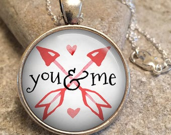 Valentine Jewelry Necklace, Valentines Jewelry, Heart Jewelry, Valentine  Gift,gift For Her