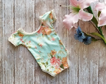 Newborn Romper, Newborn Girl Photo Outfit, Newborn Girl Photography Prop, Newborn Photo Outfit, Newborn Photo Prop, Baby Girl Romper,
