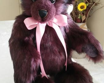 Growling Teddy Bear Handmade Mulberry