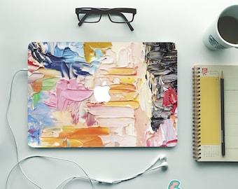 Paint MacBook Skin Vinyl Decals. Watercolor MacBook Air Sticker. MacBook Pro Skin. Brush Painting Macbook Cover Vinyl MacBook Pro Skin Mb420